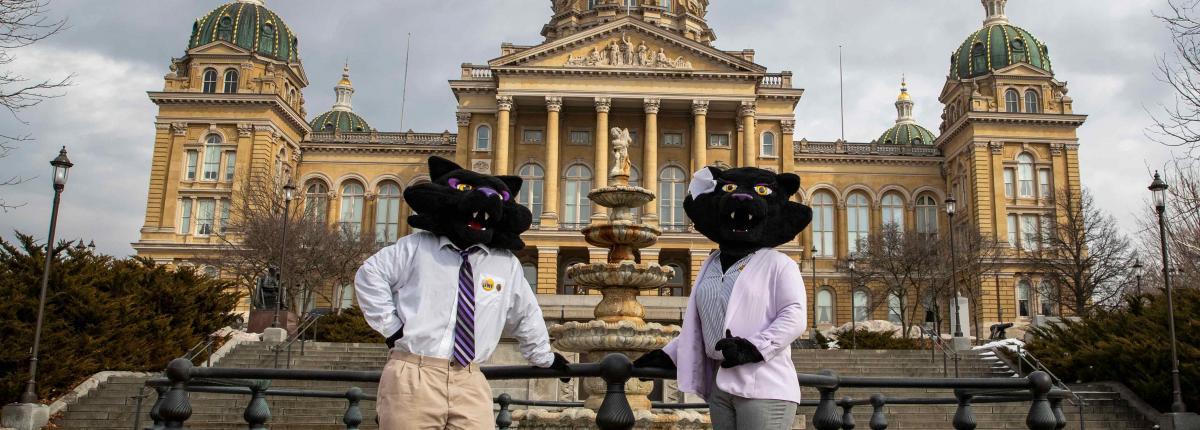 TC & TK outside of the capitol building